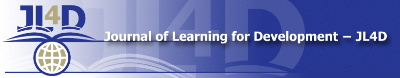 Journal of Learning for Development − JL4D (banner image)